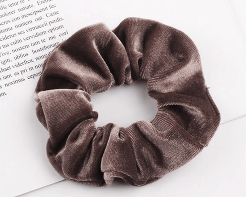3-pack brown Scrunchies
