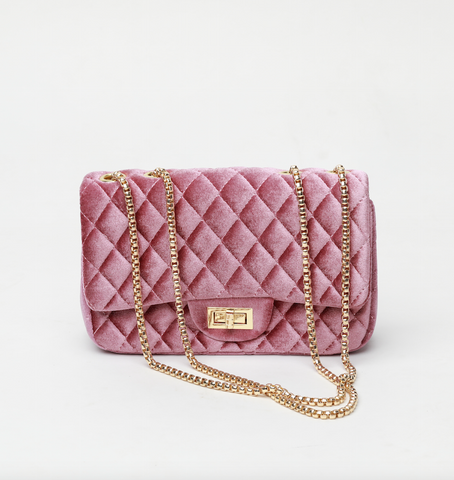 Emily Rose Velour Crossbody Bag