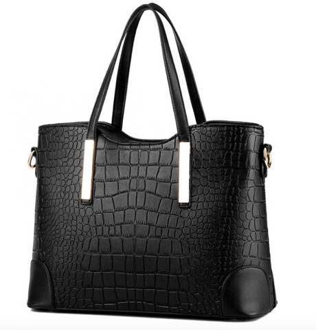 Vicki Black Croc Crossbody