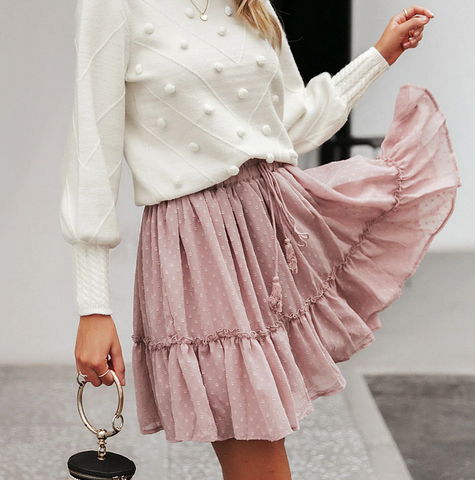 Cheer up Dusty Pink Skirt