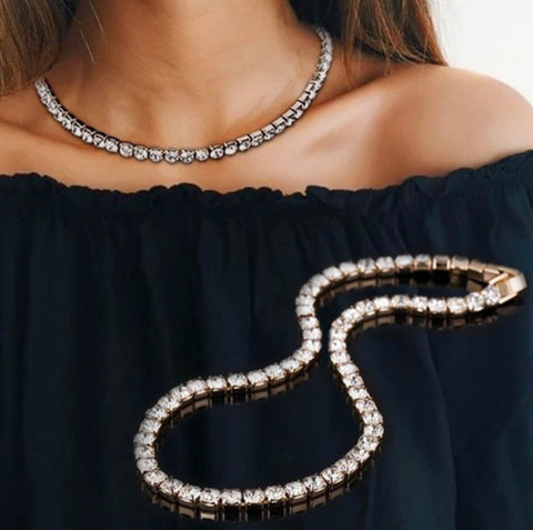 Gold Diamond Choker