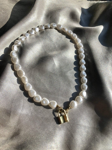 Pearl Lock Necklace