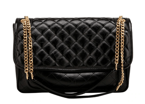 Big Quilted Flap Bag
