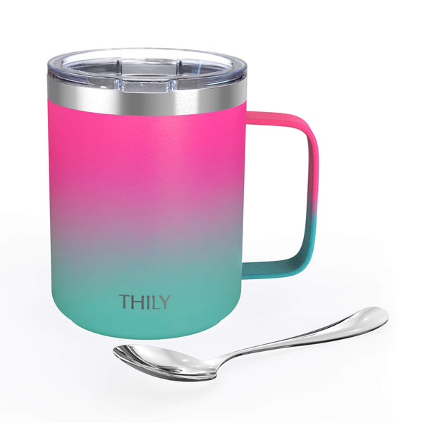 Coffee Mug - Ombre: Pink & Green