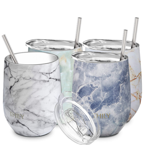 Wine Tumbler丨Family Set 4 Pack丨Different Marble