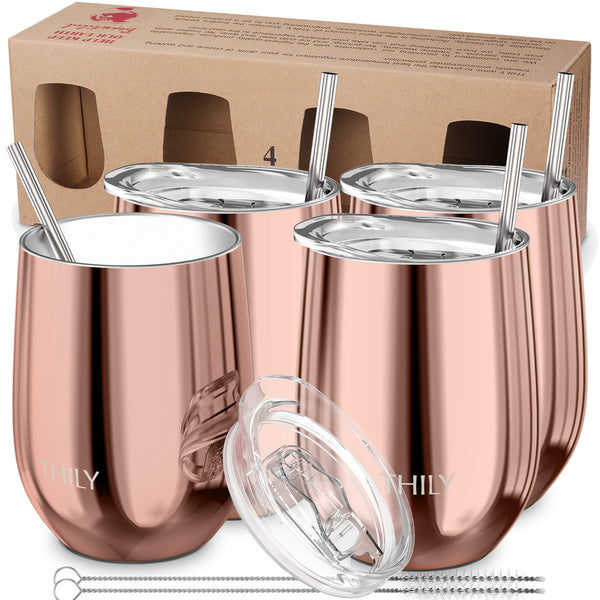 Wine Tumbler丨Family Set 4 Pack丨Rose Gold