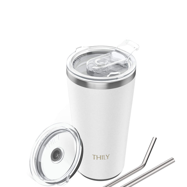 Travel Tumbler | 20 oz | Matte White