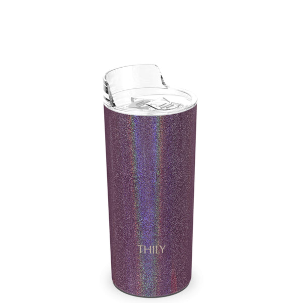 THILY_skinny_tumbler_16_oz_lid_glitter_red_brown