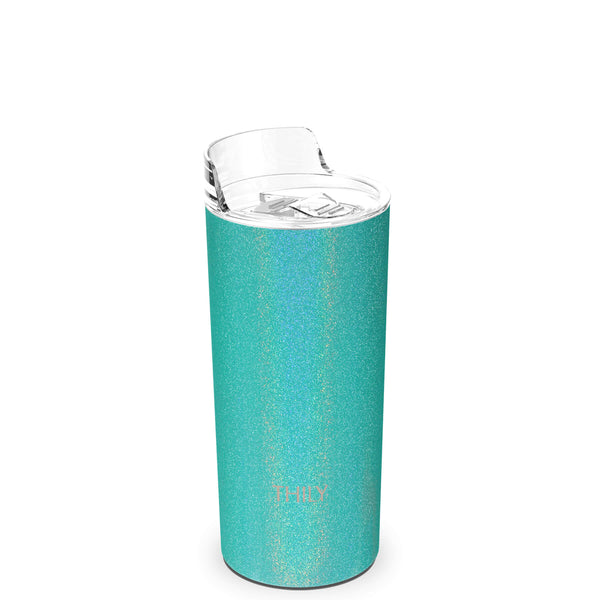 THILY_skinny_tumbler_16_oz_lid_glitter_teal