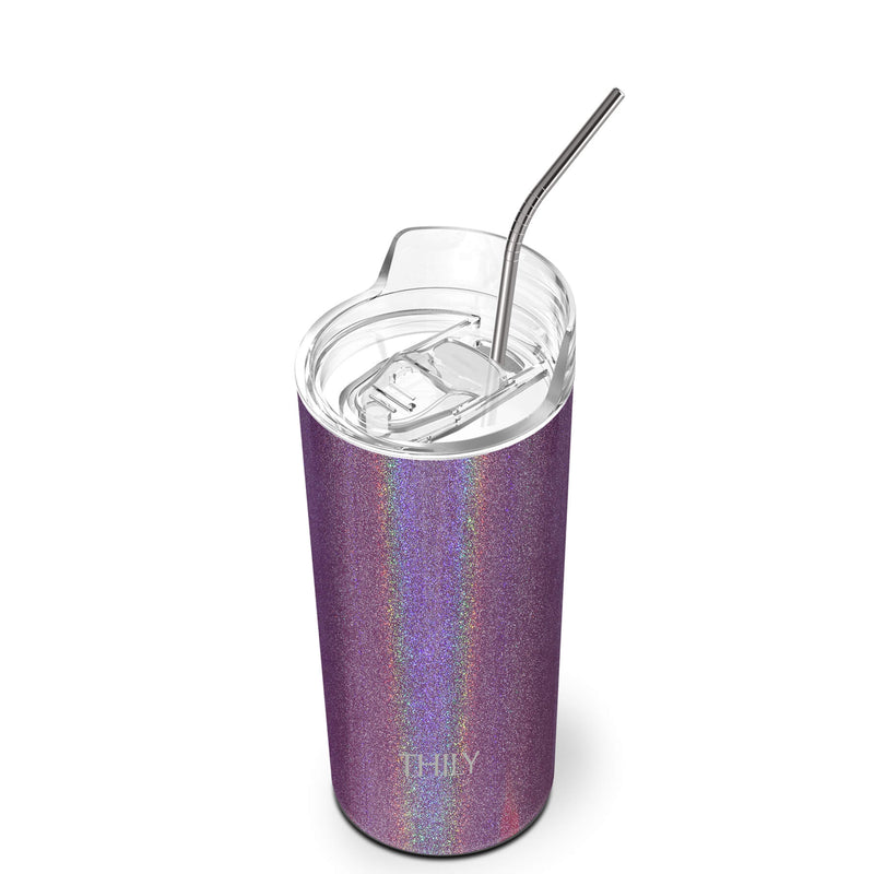 THILY_skinny_tumbler_16_oz_lid_straw_glitter_red_brown