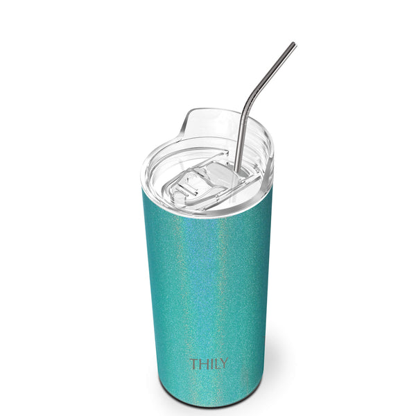 THILY_skinny_tumbler_16_oz_lid_straw_glitter_teal