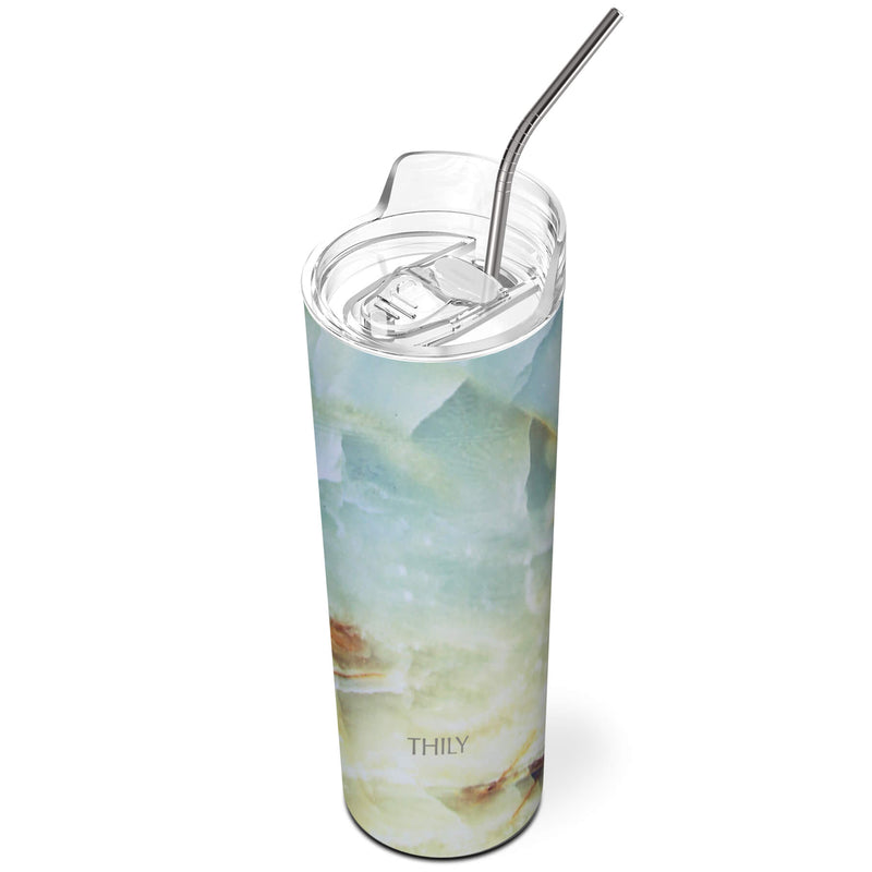 THILY_skinny_tumbler_22_oz_lid_straw_opal_marble