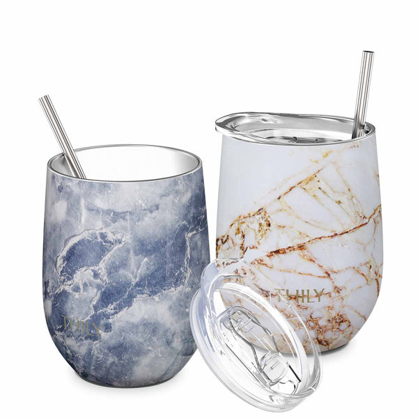 THILY_wine_tumbler_lid_straw_2_pack_bulue_marble_gold_marble