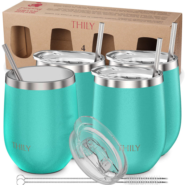 THILY_wine_tumbler_lid_straw_4_pack_gift_box_teal