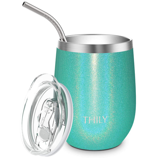 THILY_T2_wine_tumbler_sliding_lid_straw_glitter_teal
