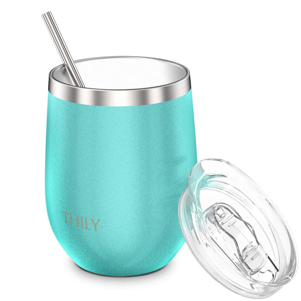 THILY_T1_wine_tumbler_sliding_lid_straw_matte_teal