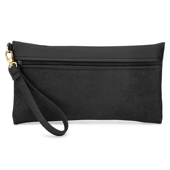 Be Ready Black Cork Clutch