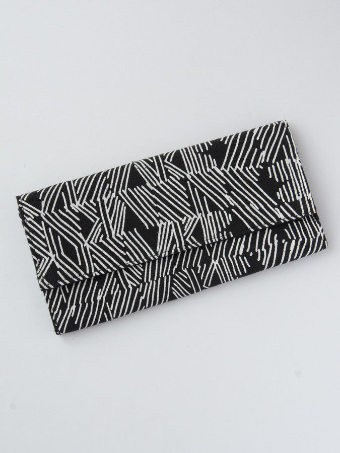 Blk & white striped Clutch