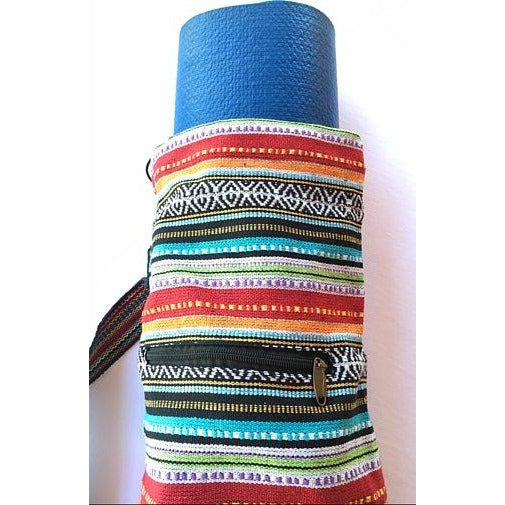 Eco Friendly Cotton Gyari Stripe Yoga Bag