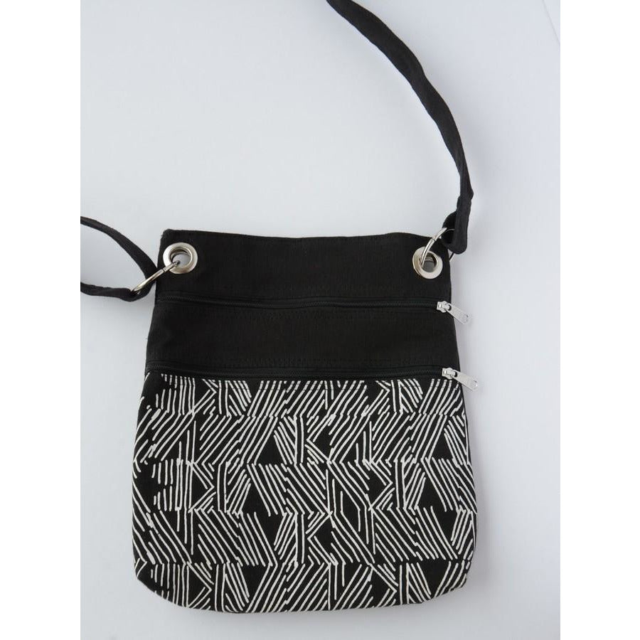 Black Matchstick Travel Purse
