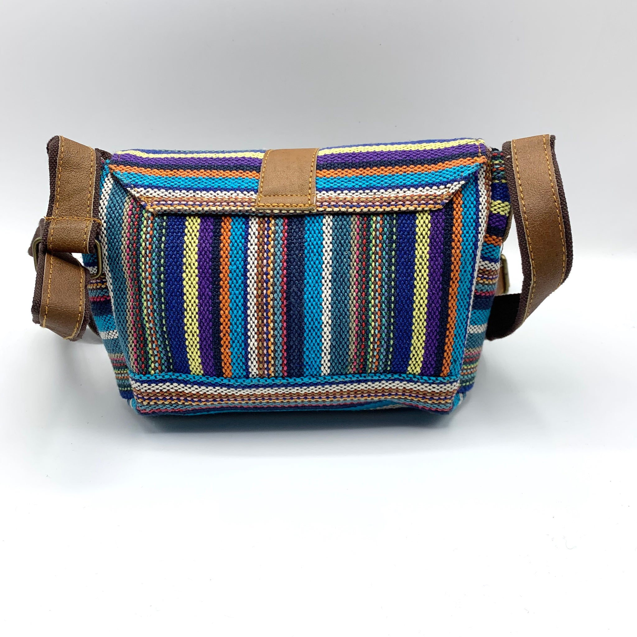 Cute & Colorful - Cotton & Leather Crossbody