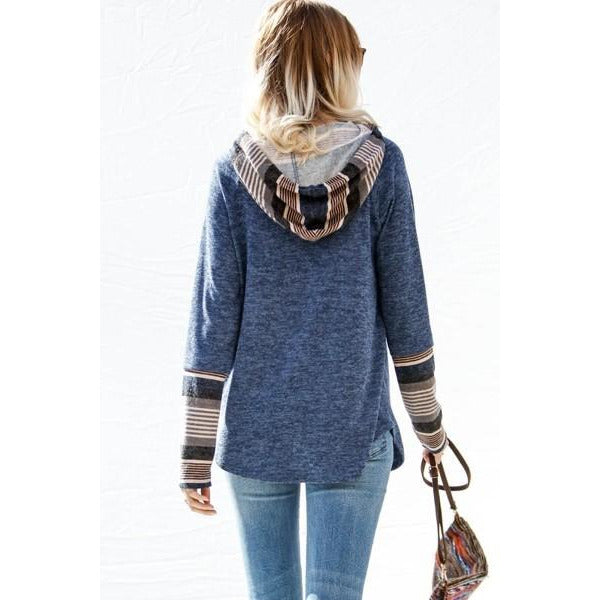 Comfy & Casual Long Sleeve Top with Hoodie