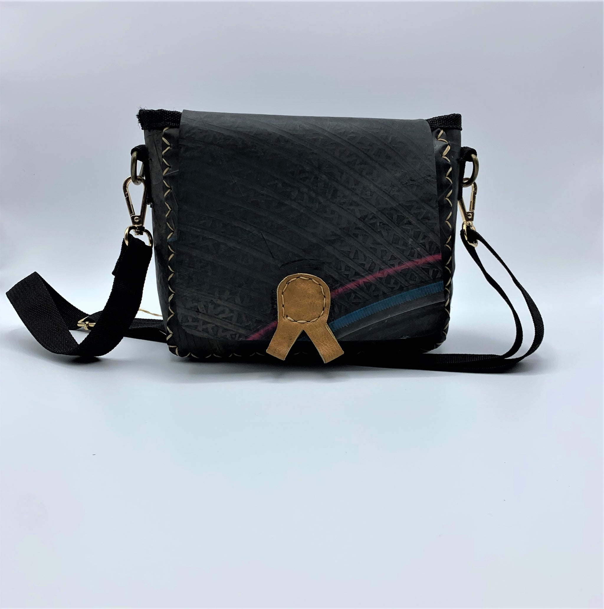 Recycled Tire Cross Body Handbag & Hip Bag