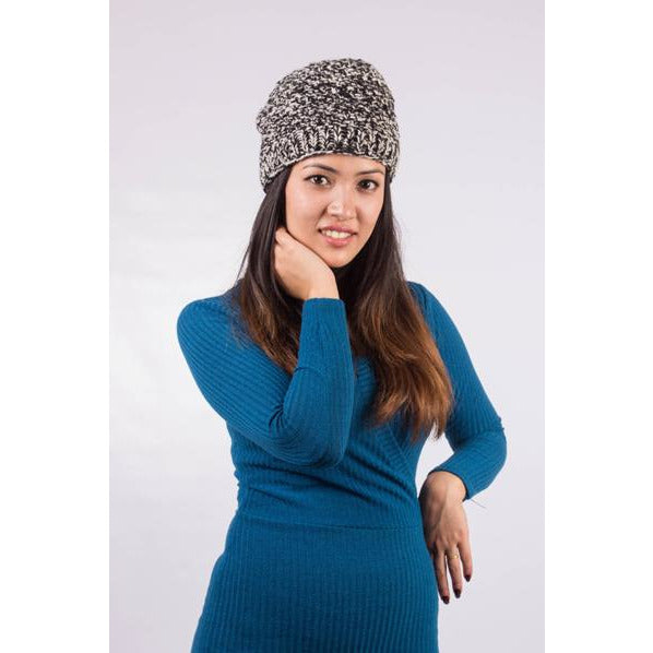 Black & White Wool Knit Hat