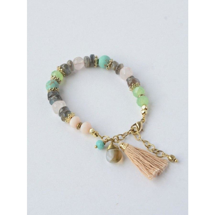 Playful Pastel Beaded Bracelet