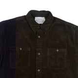 Navy & Yellow Corduroy Shirt