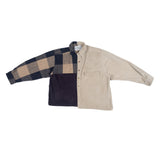 Tan & Navy Block Flannel
