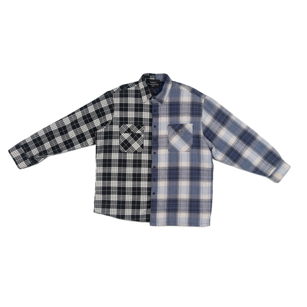 Black & Navy Split Flannel
