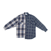 Navy Big Plaid & Navy Plaid Split Flannel