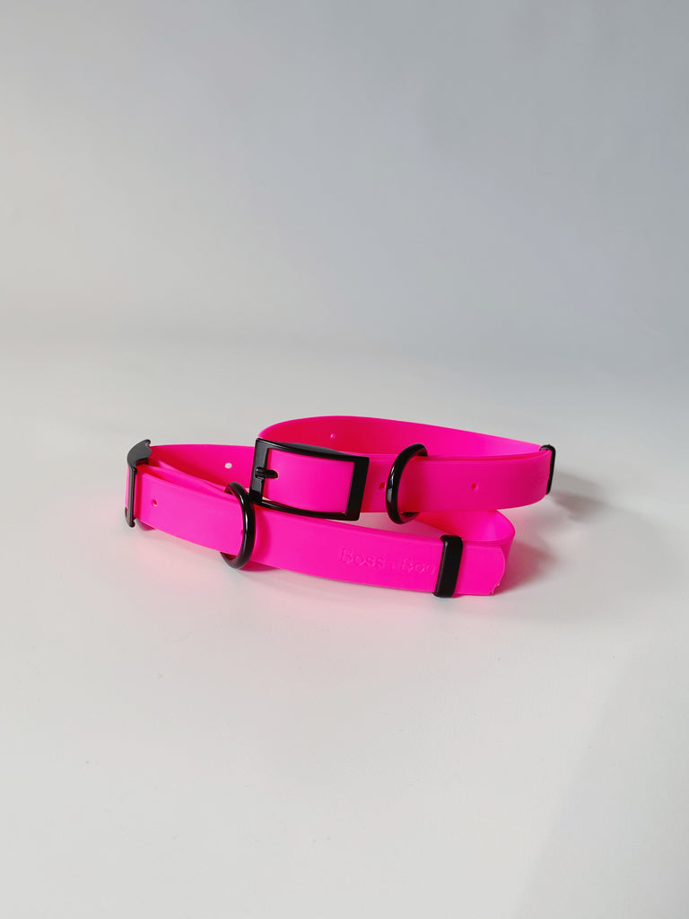Fluro Pink - Waterproof Collar