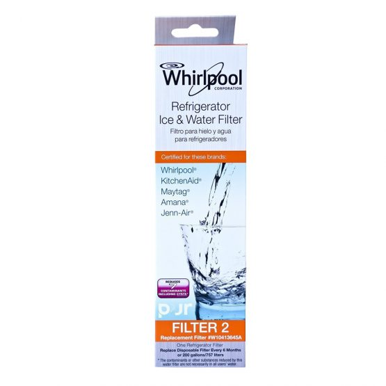 Fit Whirlpool W10413645A Refrigerator Water Filter 2 EDR2RXD1 Fridge  Cartridge Replacement