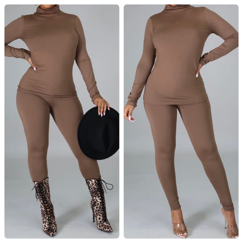 Chill Baby Pants Set Mocha