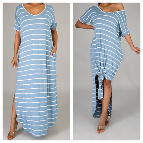 Stripe Me Down Maxi