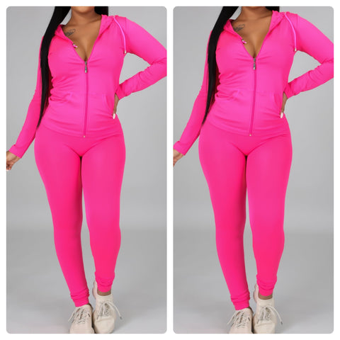 Chill Set Hot Pink