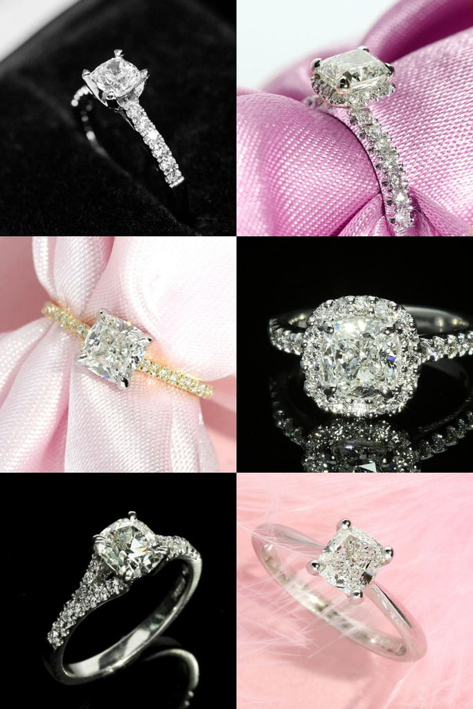 best setting for cushion cut diamonds
