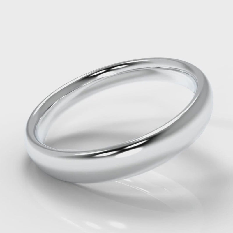 4mm Court Shaped Comfort Fit Wedding Ring