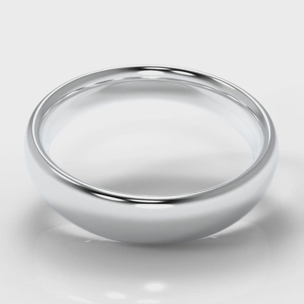 5mm Court Shaped Comfort Fit Wedding Ring