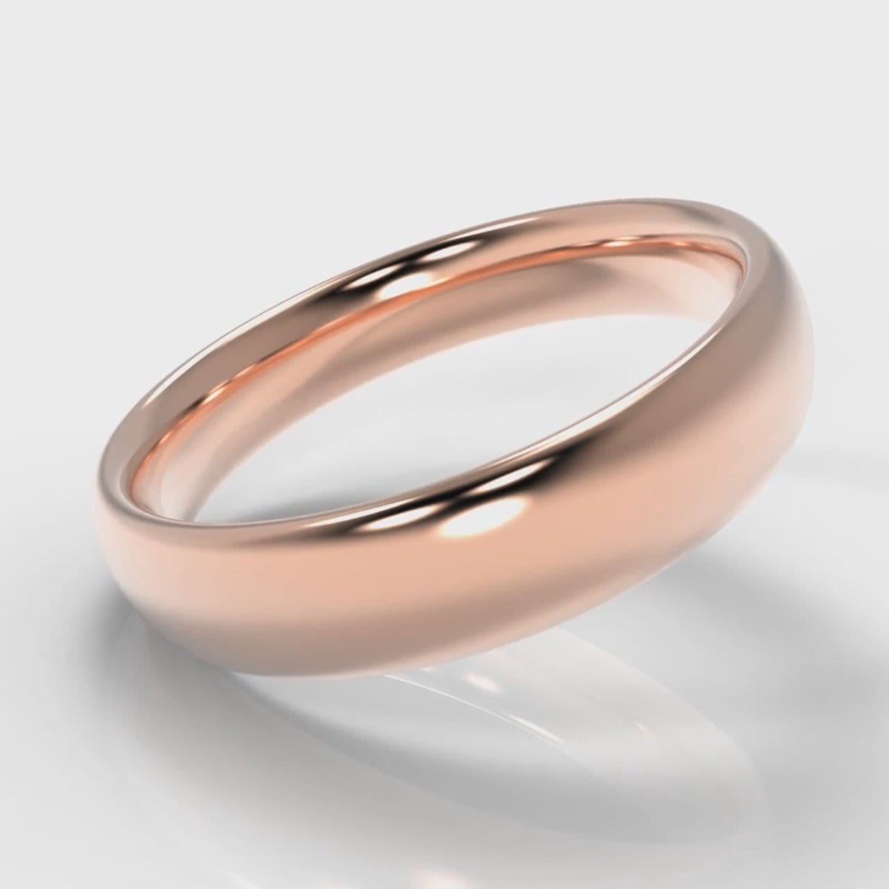 5mm Court Shaped Comfort Fit Wedding Ring - Rose Gold