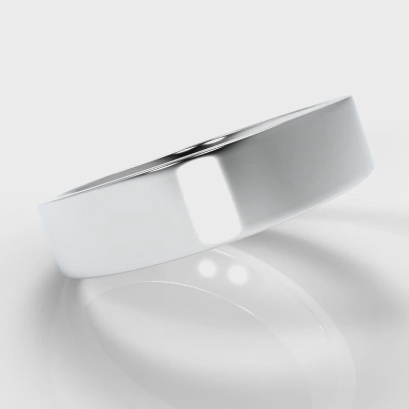 5mm Flat Top Comfort Fit Wedding Ring
