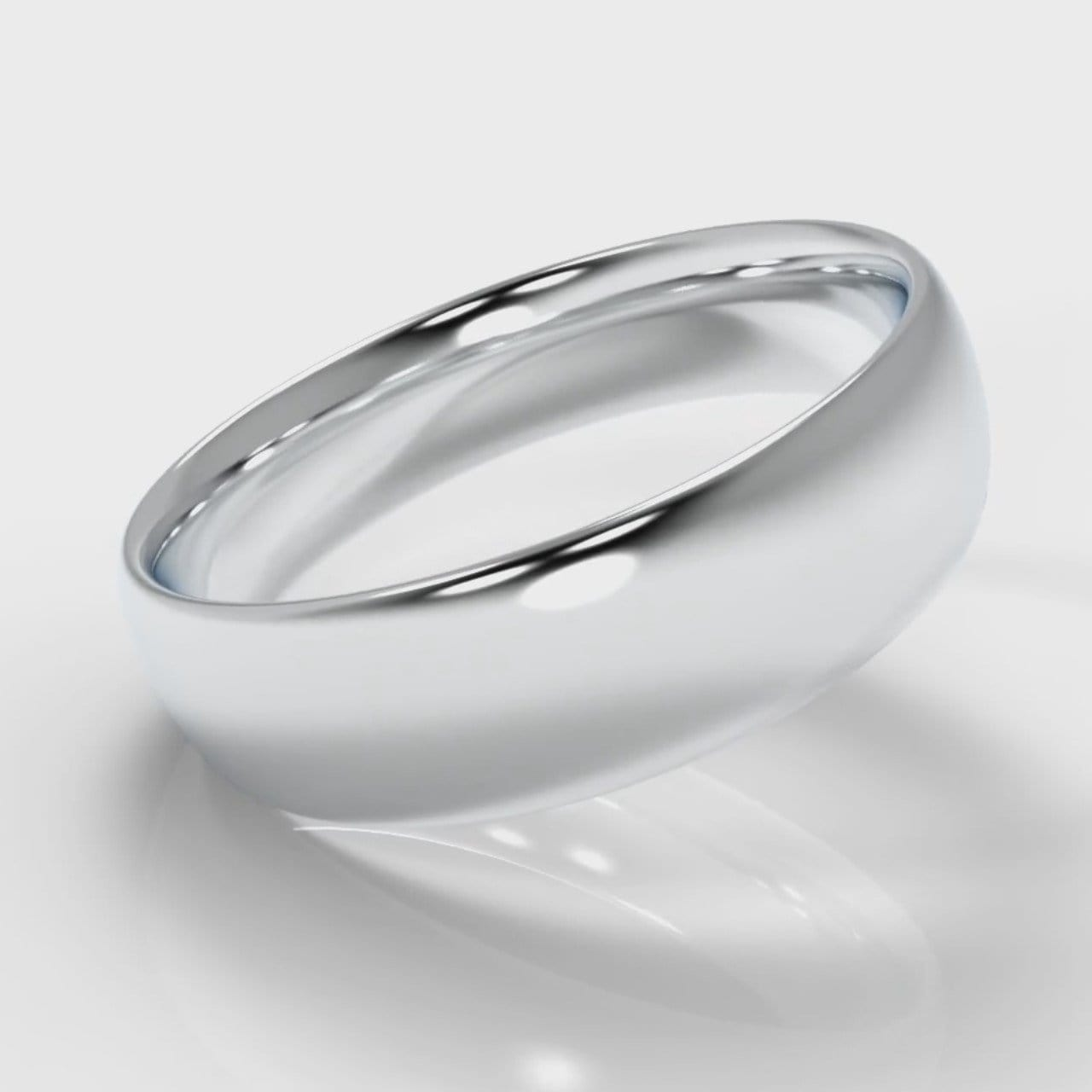 6mm Court Shaped Comfort Fit Wedding Ring