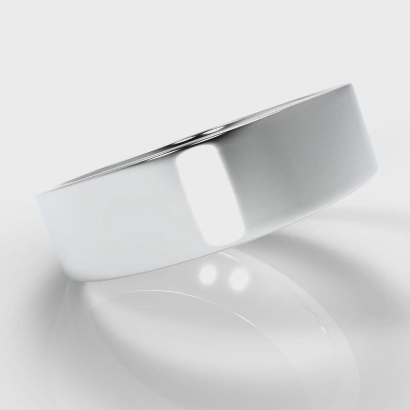 6mm Flat Top Comfort Fit Wedding Ring