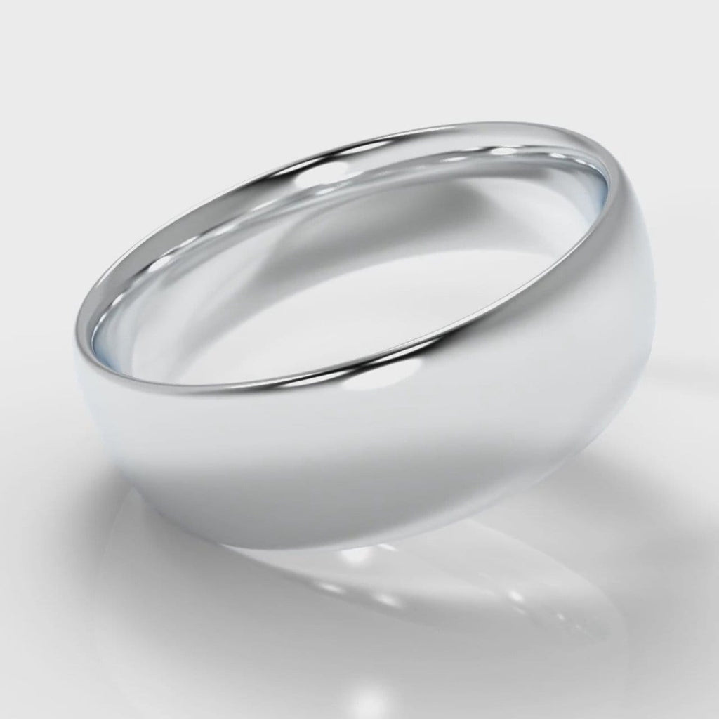 7mm Court Shaped Comfort Fit Wedding Ring