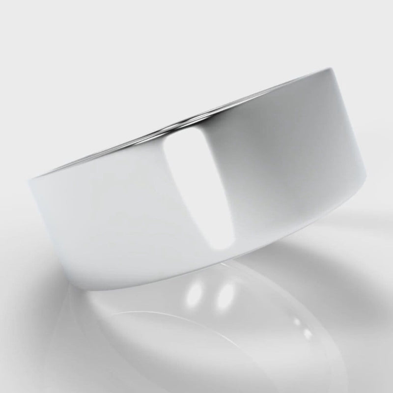 8mm Flat Top Comfort Fit Wedding Ring
