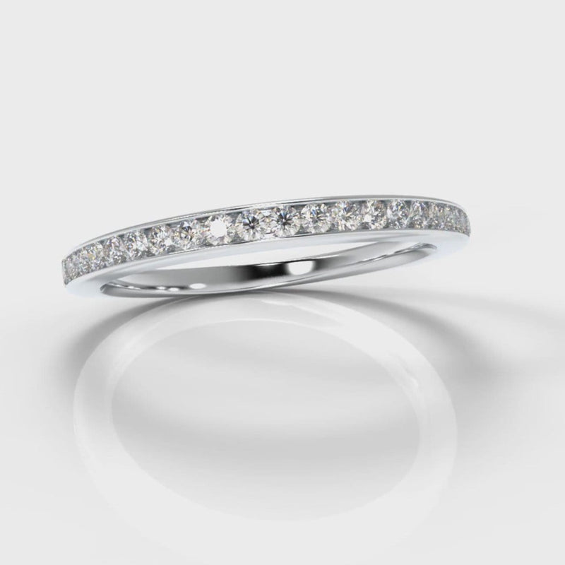 Petite Channel Set Diamond Wedding Ring