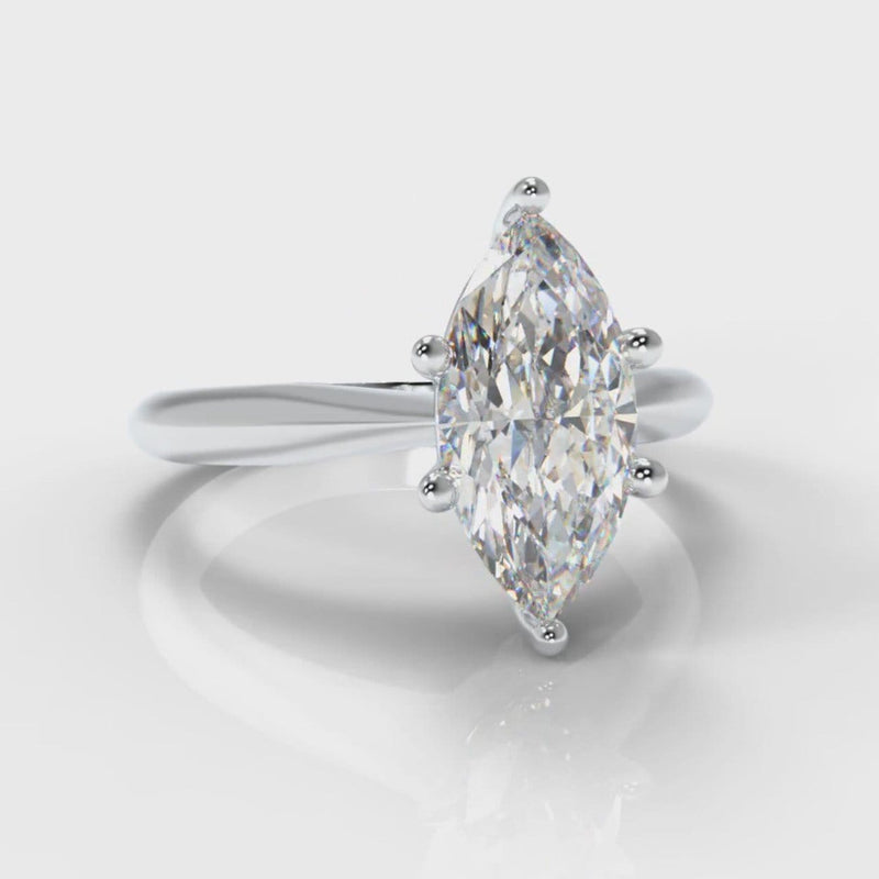Star Solitaire Marquise Diamond Engagement Ring
