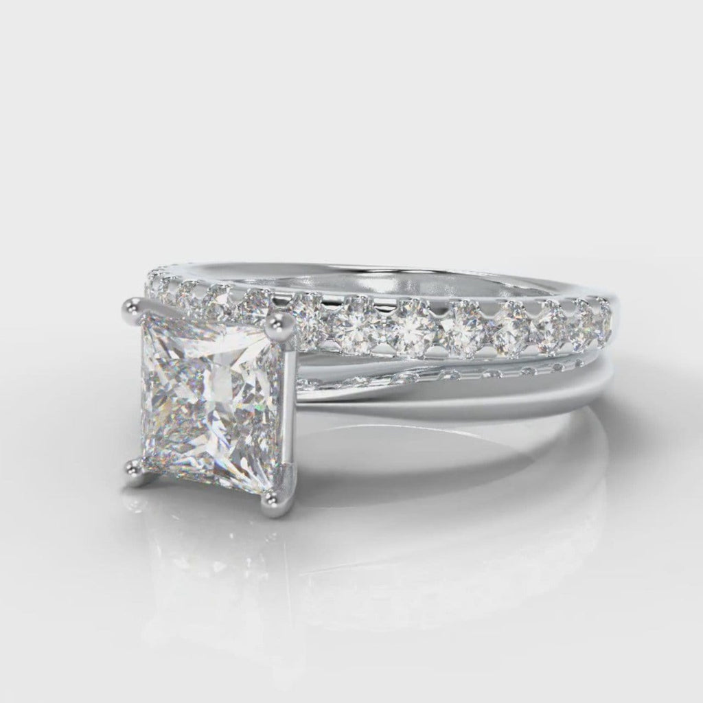 Carrée Solitaire Princess Cut Diamond Bridal Set